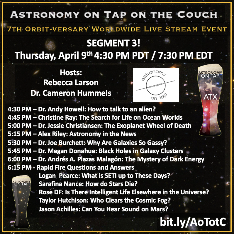 Schedule for the third segment of the AoTotC live stream
